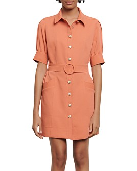 Sandro - Joody Belted Mini Dress