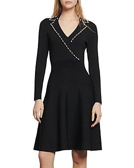 Sandro - Suity Embellished A-Line Mini Dress