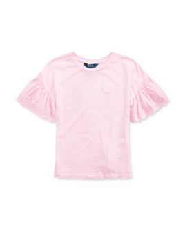 Ralph Lauren - Girls' Eyelet-Sleeve Top - Big Kid