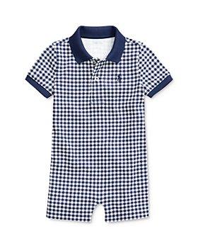 Ralph Lauren - Boys' Cotton Gingham Check Polo Shortalls - Baby