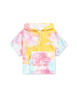 Ralph Lauren - Girls' Tie-Dyed Print Hooded Swim Cover-Up - Baby