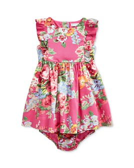 Ralph Lauren - Girls' Cotton Ruffled Floral Fit-and-Flare Dress & Bloomers Set - Baby