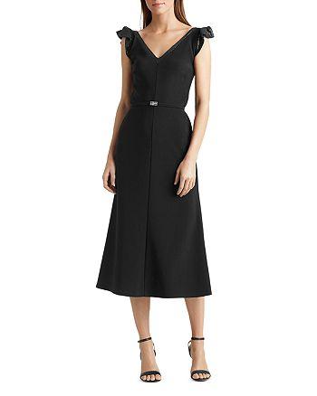 Ralph Lauren - Sequined Flutter-Sleeve Dress
