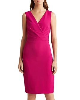 Ralph Lauren - Crepe Crossover-Neck Dress