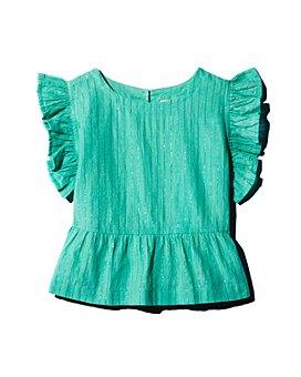 Pink Chicken - Girls' Kit Cotton-Blend Metallic-Stripe Top - Big Kid