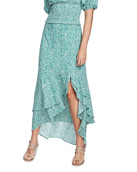 1.STATE - Folk Silhouette Floral Maxi Skirt