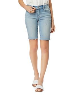 Habitual - Kaylee Mid-Rise Bermuda Jean Shorts in Olympic
