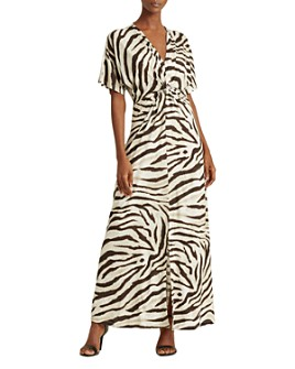 Ralph Lauren - Printed Twist-Front Dress