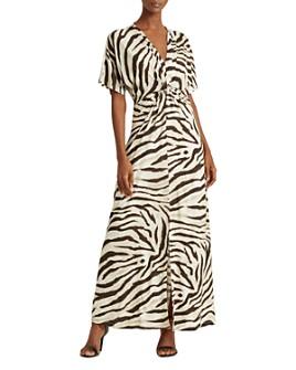 Ralph Lauren - Printed Twist-Front Dress