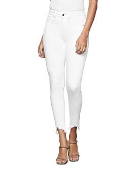 Good American - Good Legs Frayed-Hem Jeans