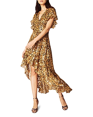 ba & sh Grace Metallic High/Low Dress-Women