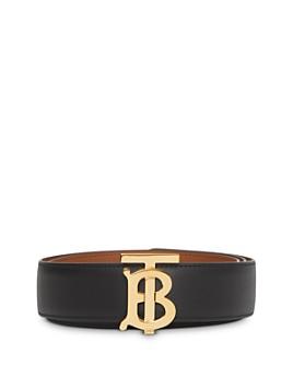 Burberry - Reversible Monogram Motif Leather Belt