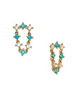 Nadri 18K Gold-Plated Crystal & Stone Drop Earrings
