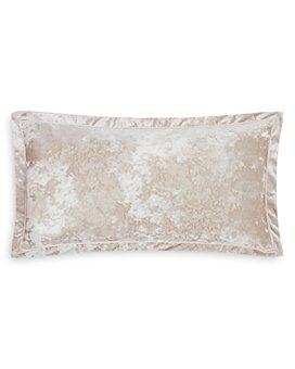 "Charisma - Melange Velvet Decorative Pillow, 32"" x 16"""