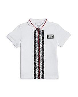 Burberry - Boys' Joseph Monogram Stripe Cotton Piqué Polo Shirt - Little Kid, Big Kid