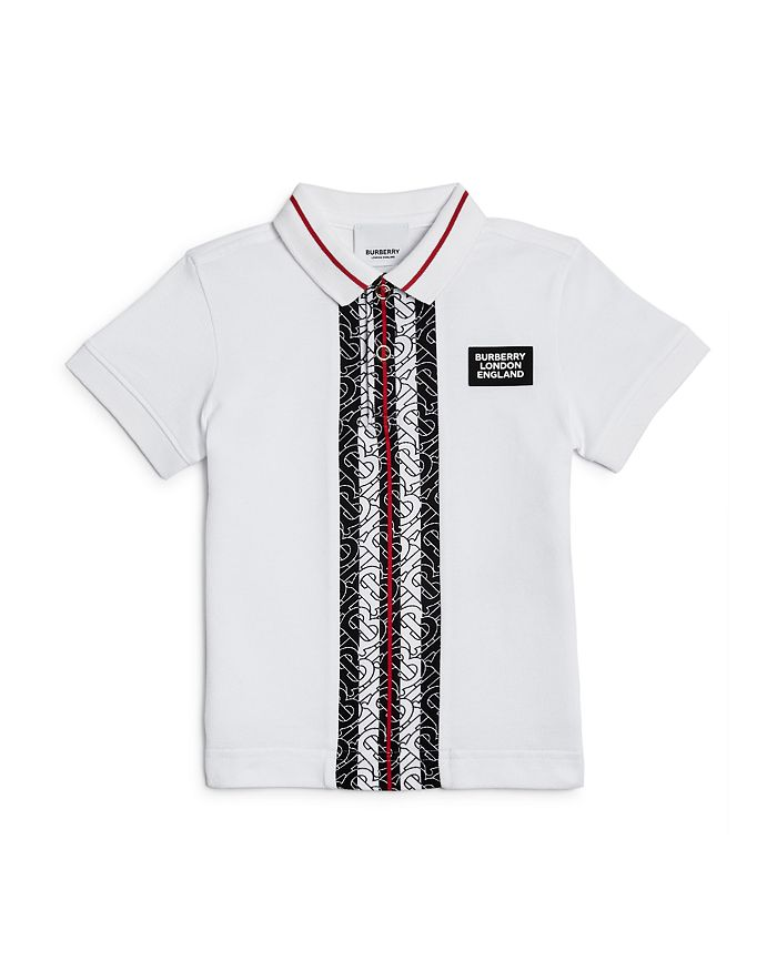 Burberry - Boys' Joseph Monogram Stripe Cotton Piqué Polo Shirt - Little Kid, Big Kid