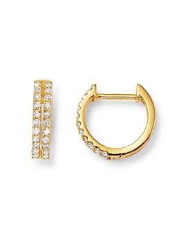 Moon & Meadow - Diamond Huggie Hoop Earrings in 14K Yellow Gold, 0.23 ct. t.w. - 100% Exclusive