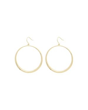 Gorjana Farrah 18K Gold-Plated Drop Hoop Earrings