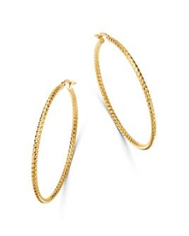 Bloomingdale's - 14k Yellow Gold PDC Hoop Earrings - 100% Exclusive