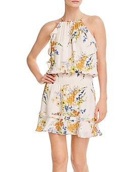 Parker - Williame Silk Ruffled Halter Mini Dress