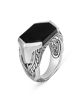 JOHN HARDY - Sterling Silver Classic Chain Black Onyx Signet Ring