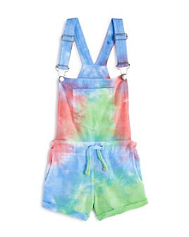 Vintage Havana - Girls' Tie-Dyed Overall Shorts - Big Kid