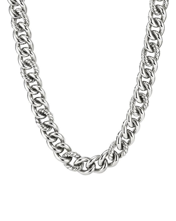 "David Yurman - Sterling Silver Curb Chain Necklace, 16"""