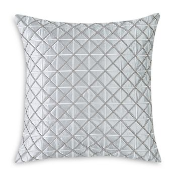 """Charisma - Belaire Square Embroidered Decorative Pillow, 20"""" x 20"""""""