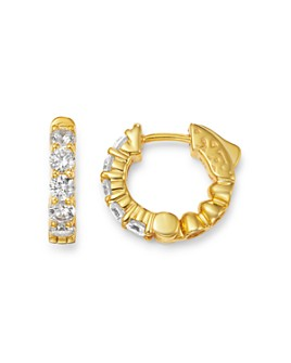 Bloomingdale's - Diamond Huggie Hoop Earrings in 14K Yellow Gold, 1 ct. t.w. - 100% Exclusive