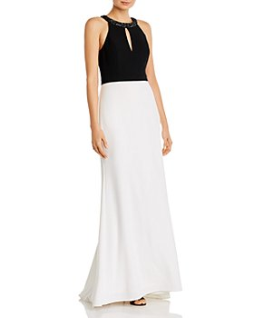 Aidan Mattox - Color-Blocked Keyhole Gown - 100% Exclusive