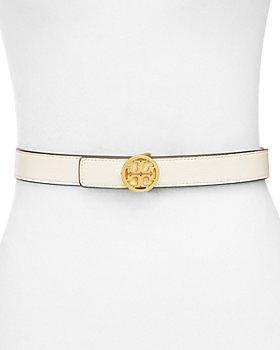 Tory Burch - Women's Reversible Leather Logo Belt