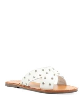 SCHUTZ - Women's Marilu Embellished Slip On Sandals