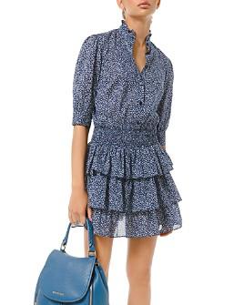MICHAEL Michael Kors - Floral-Print Tiered Ruffle Mini Dress