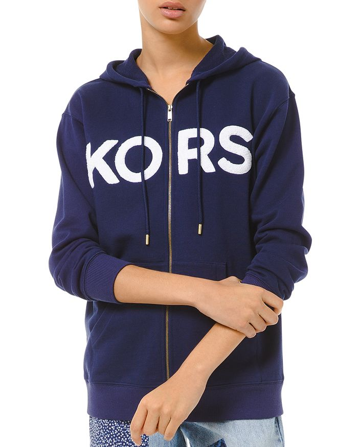 MICHAEL Michael Kors - Cotton French Terry Logo Hoodie