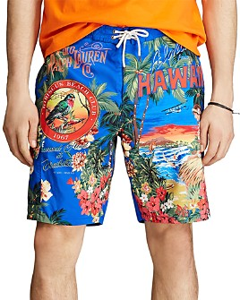 Polo Ralph Lauren - Kailua Tropical-Print Swim Trunks