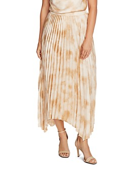 VINCE CAMUTO - Pleated Tie-Dye Skirt