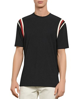 Sandro - Striped Band Inlay Tee
