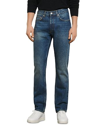 Sandro - Regular Washed Straight Fit Jeans in Blue Vintage