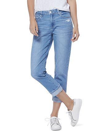PAIGE - Brigitte Slim Boyfriend Jeans in Folk Distressed