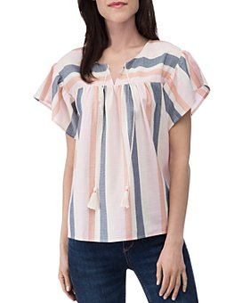 B Collection by Bobeau - Romina Tie Blouse