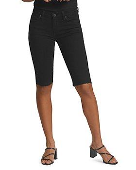 Hudson - Amelia Cutoff Denim Bermuda Shorts in Black