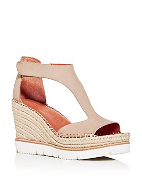 Gentle Souls by Kenneth Cole - Women's Elyssa Easy T-Strap Espadrille Wedge Sandals