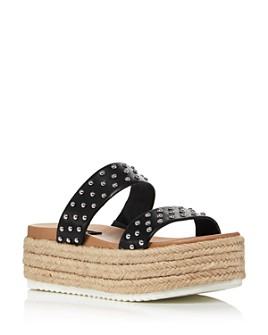 AQUA - Women's Ayden Platform Espadrille Slide Sandals - 100% Exclusive