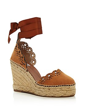 Tabitha Simmons - Women's Ravi Ribbon-Tie Wedge Espadrilles