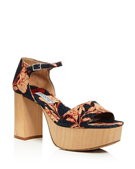 Tabitha Simmons - Women's Patton Floral-Print Platform Sandals