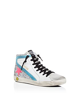 Golden Goose Deluxe Brand - Girls' Slide Glitter-Embellished High-Top Sneakers - Toddler, Little Kid