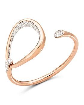 Pomellato - 18K Rose Gold Fantina Diamond Cuff Bangle Bracelet