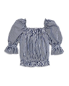 Habitual Kids - Girls' Anabella Striped Puff-Sleeve Top - Little Kid