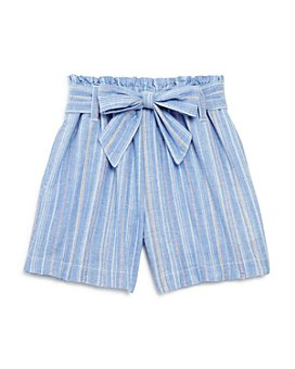 Habitual Kids - Girls' Cotton Striped Tie Shorts - Big Kid