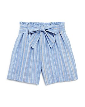 Habitual Kids - Girls' Cotton Striped Tie Shorts - Little Kid, Big Kid